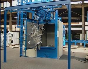 China Customizable Hook Type Shot Blasting Machine With Projectile Circulation System on sale
