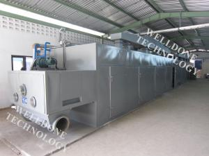 China Large Scale Infrared Conveyor Dryer , Adjustable Moving Speed Conveyor Belt Oven on sale
