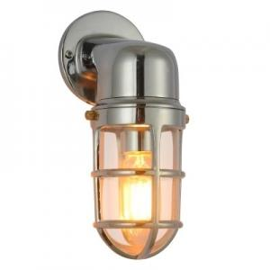 China Antique Outdoor Wall Lights , Waterproof Dimmable Wall Lights Nickel Marine on sale