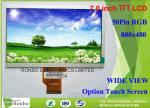 """High Brightness 7"""" 800*480 Industrial LCD Screen Display 50pin RGB Interface For Outdoor Products"""