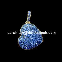Heart Shaped Pendant Jewelry Customized USB Flash Drives