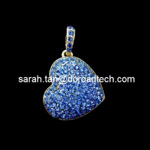 China Heart Shaped Jewelry Pendant USB Flash Drives on sale