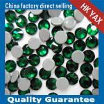 0428 YAX205 Emerald color china swainstone senior brand hot fix crystals rhinestones