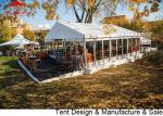 China Luxury Waterproof Pvc Outdoor Event Tent With Glass Wall / Large Party Tents wholesale