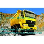 Camion à benne basculante/diesel résistants 6 x jaune de camion à la benne basculante 4 manuel de 336 puissances en chevaux