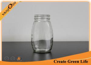 China Empty Glass Queenline Honey Jar 6oz Classic Honey Jars Customized on sale