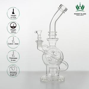 China 10 Inches Glass Water Bongs Clear Faberge Egg Mothership Water Pipe Oil Rig Dabs on sale