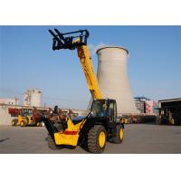 3500kg Automatic All Terrain Telescopic Forklift Machine 13700 mm Height