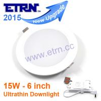 ETRN New Ultrathin design 6 inch 15W LED ceiling recessed downlight round panel light
