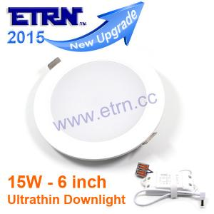 China ETRN New Ultrathin design 6 inch 15W LED ceiling recessed downlight round panel light on sale
