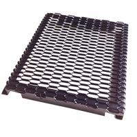 PVDF Coated Hook Up Frame Expanded Metal Mesh For External Curtan Wall Panel