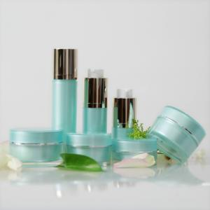 China Round 30ml Airless Cosmetic Bottles For Skin Care Cream Hot Stamp Printing on sale