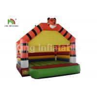 China PVC Tarpaulin Orange Tiger Inflatable Jumping Bouncer Castle For Outdoor Amusement on sale