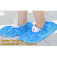 Disposable colorful antistatic PE CPE PP SMS Microporous shoe cover good quality low price waterproof shoe bagease pack