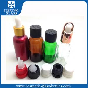 China Glass 15ml Refillable Essential Oil Dropper Bottles Customized Logo on sale