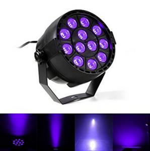 China IP33 Voice-control Violet Led Disco Lights with Black + Transparent Cover on sale