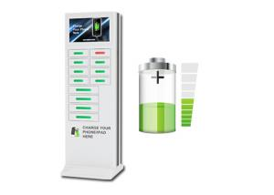 China Commercial Mobile Phone Charging Kiosks for Cafe , 22'' Touch Advertising Screen on sale