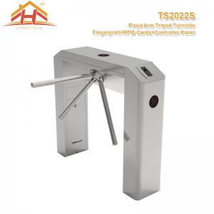 China Three Arm Access Control Turnstile Barrier Gate System With Fingerprint And RFID Card Reader on sale