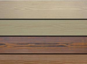 China Wood Grain Fiber Exterior Cement Board Siding , Cement Fiberboard Panels on sale