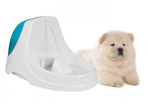 China Safe Ultra Quiet ABS PP Dog Water Bowl Fountain Anti Splash Slope Design on sale