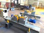 5000kg Capacity Pipe Supports Stands With Hand Control Box And Foot Pedal