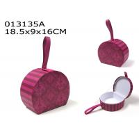 Valentines Day Decoration Gift Box Set Purple Pink Color With Faux Leather Loop