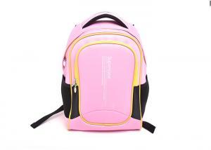 China Little Girl Pink Primary School Bag 45*35*15cm Size With Adjustable Shoulder Strap on sale