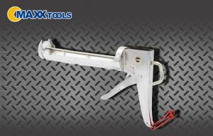 China Chrome Plated Steel Frame 9 Silicone Caulking Gun Fashionable on sale
