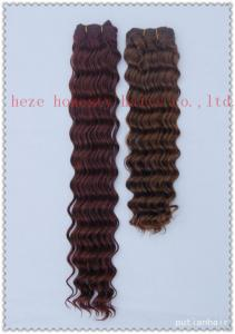 China Deep wave weaving hair on sale