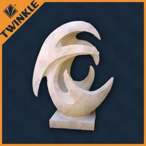 China Abstract Marble Garden Ornaments , White Marble Sculpture For Hotel / Home on sale