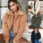 Wholesale 2018 fashion women turn-down collar winter warm woolen coats (C18723)