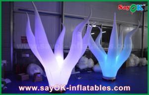 China 1.5m High Nylon Cloth Inflatable Lighting Coral Water Plant For Stage Decoration on sale