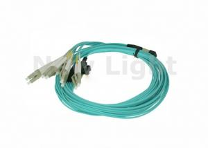 China 10 Meter OM4 12 core 3.0mm MPO MTP Cable LSZH Jacket MPO TO LC Cable on sale