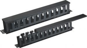 China Barras plásticas da gestão do cabo da rede da tampa para sistemas de cabo do computador de secretária on sale