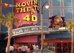 Simulação do cinema do fogo 4-D do cheiro da névoa da grande tela para o parque temático
