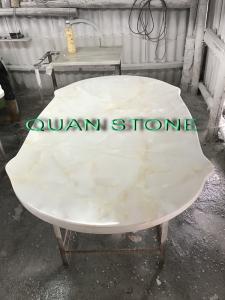 China Custom Bathroom Vanity Tops / Marble Vanity Countertops Lightweight And High Strength on sale