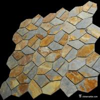 Natural stone Slate Meshed Back Landscape Flagstone Pavers Beige / Green / Grey / Yellow Color