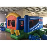 China Backyard Inflatable Bounce House Combo Kids Home Small Jumping House With Slide on sale