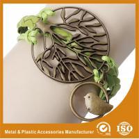 China Cool Metal Bird Personalised Leather Bracelets For Men Leather Strap Bracelet on sale