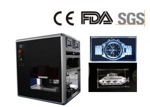 China 3D Crystal Glass Laser Engraving Machine , Middle Size Crystal Glass Picture Engraving Unit on sale