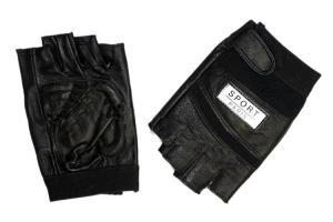 China Black Half Finger Tactical Gloves,Material:Leather,Nylon,Size: S M L XL on sale