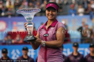 China Custom crystal sports award Tennis trophy souvenr gift for golfball player/crystal craft on sale