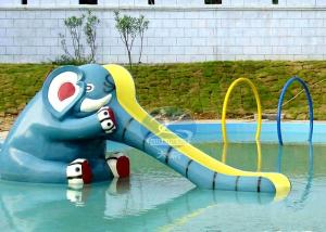 China Small Pool Playground Kids Water Slides Backyard Elephant Water Slide on sale