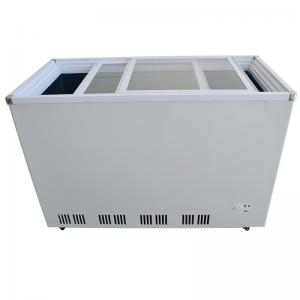 China Environmental Protection Upright Glass Door Freezer , Retail Display Freezers on sale