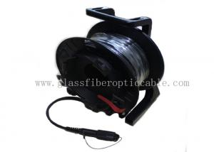 China HDMI / SDI Media Convertor Fiber Optic Cable Reel With SM  MM LC - LC Protectors on sale