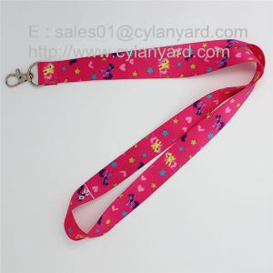 China Full color digital print lanyard with standard swivel clip for cheap on sale