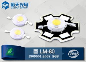 China Wall Wash Lamp High Power White LED 1W 150LM Bridgelux 45mil 6000K - 6500K on sale