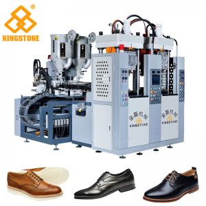 China Men Leather Shoes Sole Injection Molding Machine , 2 Colors TPR Sole Making Machine on sale