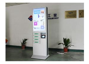 China 43 Inch Advertising Wireless Mobile Phone Charging Station With 4 Lockers on sale