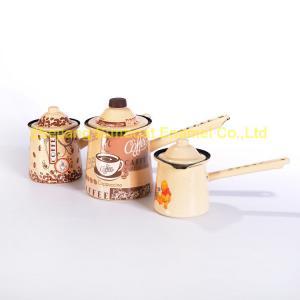 China ST-P009 small size multi-color cast iron tea set enamel coffee pot on sale